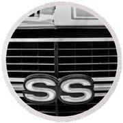 1970 Chevrolet Chevelle Ss 454 Grille Emblem Round Beach Towel