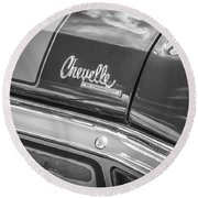 1970 Chevy Chevelle 454 Ss Bw  Round Beach Towel