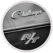 1970 Dodge Challenger Rt Convertible Emblem Round Beach Towel