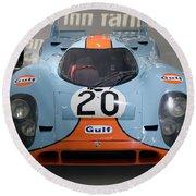 1970 Porsche 917 Kh Coupe Round Beach Towel