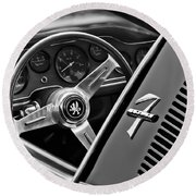 1971 Iso Grifo Can Am Steering Wheel Emblem Round Beach Towel