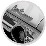 1972 Chevrolet Chevelle Taillight Emblem Round Beach Towel