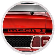 1973 Ford Mustang Mach 1 Round Beach Towel