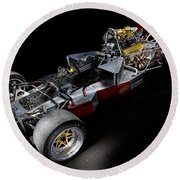 1974 Lola T332  F5000 Race Car V8 5 Litre Chassis Round Beach Towel