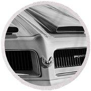 1974 Pontiac Firebird Grille Emblem Round Beach Towel