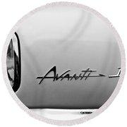 1978 Avanti II Headlight Emblem Round Beach Towel