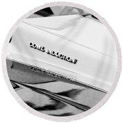 1980 Chevrolet Malibu Ss Cowl Induction Hood Emblem Round Beach Towel