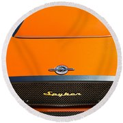 2009 Spyker C8 Laviolette Lm85 Grille Emblem Round Beach Towel