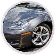 2010 Chevy Corvette Grand Sport Round Beach Towel