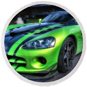 2010 Dodge Viper Acr Round Beach Towel