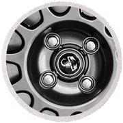 2013 Fiat Abarth Wheel Emblem Round Beach Towel