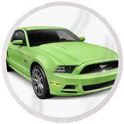 2013 Ford Mustang Gt 5.0 Sports Car Round Beach Towel