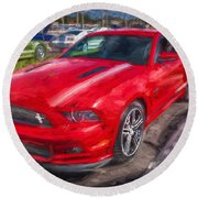 2013 Ford Mustang Gt Cs Painted  Round Beach Towel