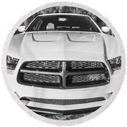 2014 Dodge Charger Rt Painted Bw Round Beach Towel
