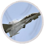 A Dassault Rafale Of The French Air Round Beach Towel