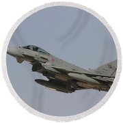 A Eurofighter Typhoon Of The Italian Round Beach Towel