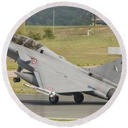 A French Air Force Rafale Jet Round Beach Towel