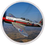 A Hawker Sea Fury T.mk.20 Dreadnought Round Beach Towel