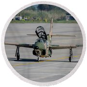 A Hellenic Air Force T-2 Buckeye Round Beach Towel