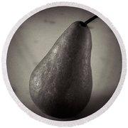 A Pear At An Angle Round Beach Towel