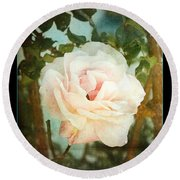 A Rose Is A Rose Round Beach Towel