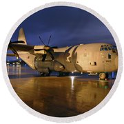 A Royal Air Force C130j Hercules  Round Beach Towel