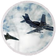 A Royal Air Force Hawk  Round Beach Towel