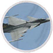 A Saab Jas 39 Gripen C Of The Royal Round Beach Towel
