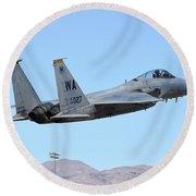 A U.s. Air Force F-15c Eagle Taking Round Beach Towel