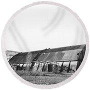 Abandoned Sugarmill Round Beach Towel