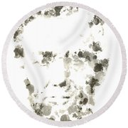 Abraham Lincoln Paint Drops Round Beach Towel