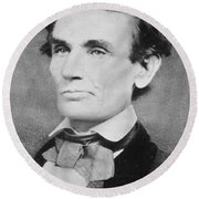 Abraham Lincoln Round Beach Towel by Unknown