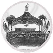 Abraham Lincoln's Funeral Round Beach Towel