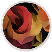 Abstract 071713 Round Beach Towel