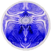 Abstract 139 Round Beach Towel