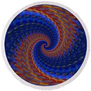 Abstract 142 Round Beach Towel
