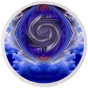 Abstract 143 Round Beach Towel