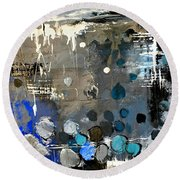 Abstract 695213 Round Beach Towel