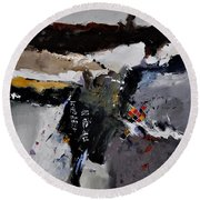 Abstract 8831803 Round Beach Towel