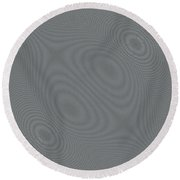 Abstract Hypnotic Lines Round Beach Towel