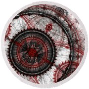 Abstract Mechanical Fractal Round Beach Towel