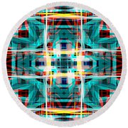 Abstract Pattern 5 Round Beach Towel