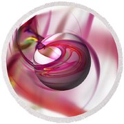 Abstract Red Globe Round Beach Towel