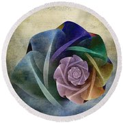 Abstract Rose Round Beach Towel