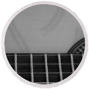 Acoustic Guitar Frontal Round Beach Towel