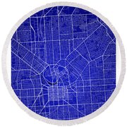 Adelaide Street Map - Adelaide Australia Road Map Art On Colored Round Beach Towel