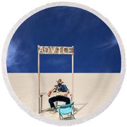 Advice Round Beach Towel