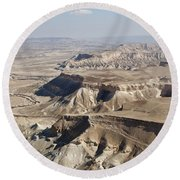 1-aerial Photography Of The Negev  Round Beach Towel