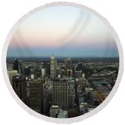 Aerial View Of Melbourne Round Beach Towel