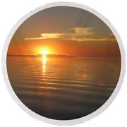 Afterglow Round Beach Towel